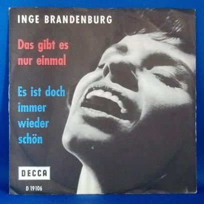 Inge Brandenburg/Das Gibt Es Nur Einmal/DECCA D19 106